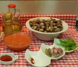 Caracoles en salsa de verduras