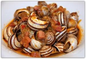 Recetas de caracoles