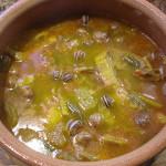 Sopa de verduras con caracoles