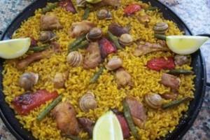 arroz a la alicantina con caracoles