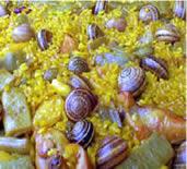 arroz paella con caracoles