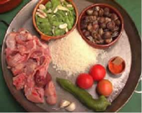 ingredientes paella de caracoles